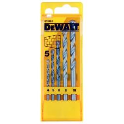 DEWALT DT6952 Coffret 5 forets à BETON 4,5,6,8 et 10