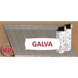 Pack 2000 clous TH F16/63 mm + gaz IM65A/250A Angle Brads Galva 20°