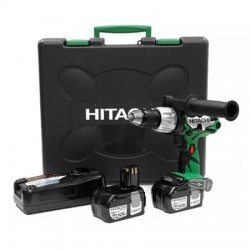 HITACHI DV18DL Perceuse à percussion 13mm visseuse 18 V - Batteries Li-ion 3,0 Ah